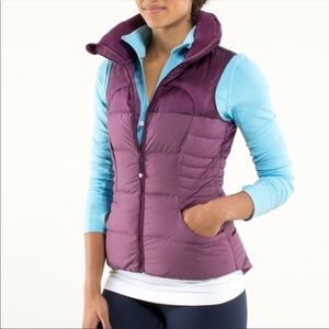 Lululemon Fluffin' Awesome Vest Plum Down Fill